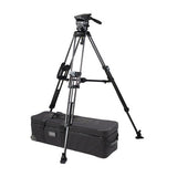 Tripod - Arrow 55 (1726) Carbon Fibre Tripod, 2 Stage System with Shell Case - Mid Level Spreader - Vizcom Technologies - 1