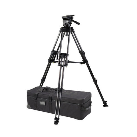 Tripod - Arrow 55 (1741) Carbon Fibre Tripod, 2 Stage HD System with Shell Case - Mid Level Spreader - Vizcom Technologies - 1