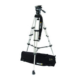 Tripod - Miller Compass 20 (1841) Alloy Toggle 2 Stage Tripod System, Mid Level Spreader - Vizcom Technologies - 1