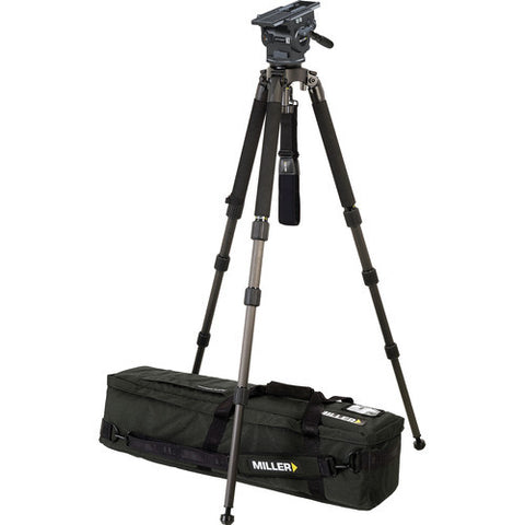 Tripod - Miller (3068) - ArrowX 3 Solo 100mm Three Stage Carbon Fiber Tripod - Vizcom Technologies - 1