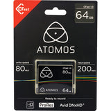 Media - Atomos CFast 1.0 - 64GB - Vizcom Technologies