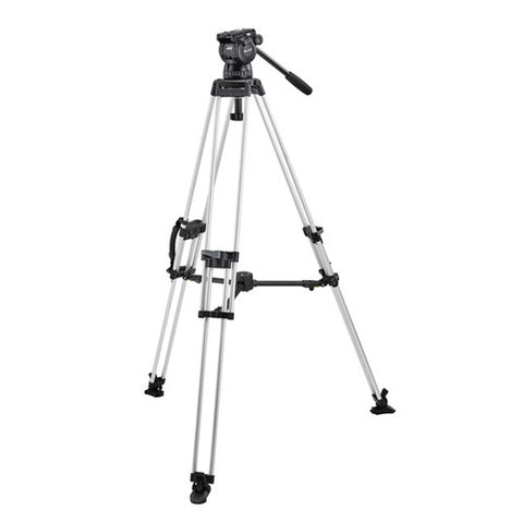 Tripod - Miller Compass 23 (1861) | 100mm Fluid head (1037) with 1 Stage Alloy Tripod - Vizcom Technologies - 1