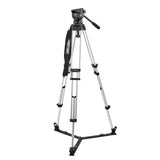 Tripod - Miller Compass 23 (1862) | 100mm Fluid head (1037) with Alloy Ground Spreader Tripod - Vizcom Technologies - 1