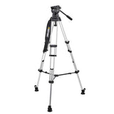 Tripod - Miller Compass 23 (1863) | 100mm Fluid head (1037) with 2-Stage Alloy Tripod (402) Mid Level Spreader. - Vizcom Technologies - 1