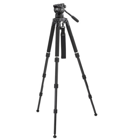 Tripod - Miller Compass 23 (1866) | Solo 3 stage Carbon Fiber Tripod (1505) and 100mm Fluid head (1037). - Vizcom Technologies - 1
