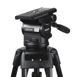 Tripod - Arrow 55 (1741) Carbon Fibre Tripod, 2 Stage HD System with Shell Case - Mid Level Spreader - Vizcom Technologies - 3