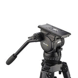 Tripod - Miller Compass 20 (1841) Alloy Toggle 2 Stage Tripod System, Mid Level Spreader - Vizcom Technologies - 3