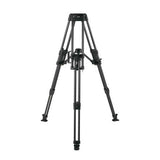 Tripod - Arrow 55 (1741) Carbon Fibre Tripod, 2 Stage HD System with Shell Case - Mid Level Spreader - Vizcom Technologies - 2