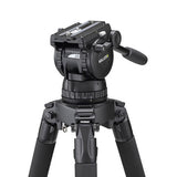 Tripod - Miller Compass 23 (1861) | 100mm Fluid head (1037) with 1 Stage Alloy Tripod - Vizcom Technologies - 5