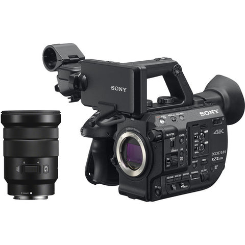 Sony PXWFS5KM2 Mark II - 4K XDCAM Super 35 Camera with E Mount 18-105mm G lens.