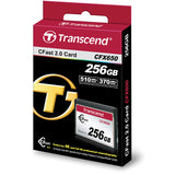 Media - Transcend Card CFast 2.0 CFX650 256GB suits 4K | Blackmagic Approved - Vizcom Technologies - 2