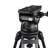 Tripod - Skyline 70 (2075) Alloy Tripod, 1 Stage HD System - w/ Dolly - Vizcom Technologies - 3
