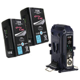 IDX Bundle - 2x IDX CUE-D95 Batteries + VL-2X 2-CHANNEL SEQUENTIAL QUICK CHARGER WITH AC ADAPTOR