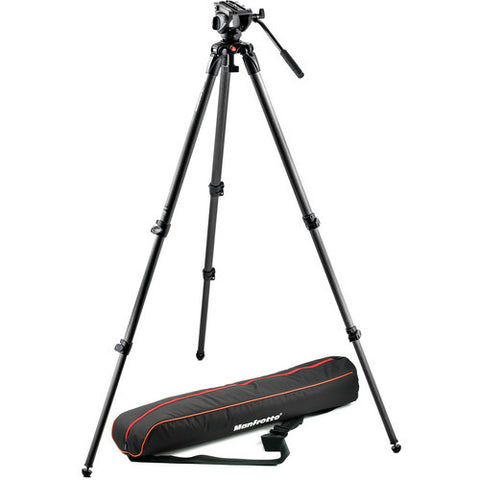 Tripod - Manfrotto MVK500C | MVH500A Half Ball Fluid Head & 535 Tripod with Carry Bag - Vizcom Technologies - 1