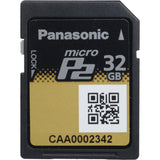 Media - Pansonic 32GB MicroP2 Memory Card (A-Series 2.0Gbps - UHS-II Compliant), P2 Raid Technology - Vizcom Technologies