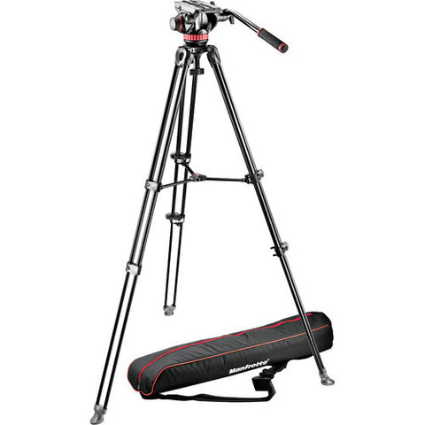 Tripod - Manfrotto MVK502AM | MVH502A Fluid Head + MVT502AM Tripod with Carry Bag - Vizcom Technologies - 1