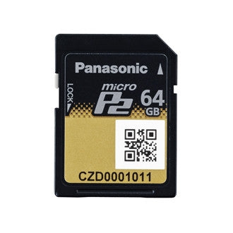 Media - Pansonic 64GB MicroP2 Memory Card (A-Series 2.0Gbps - UHS-II Compliant), P2 Raid Technology - Vizcom Technologies