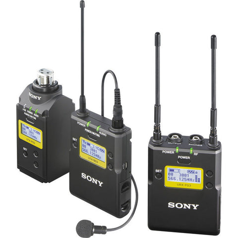 Microphone - Sony UWP16 Beltpack Wireless Lapel with XLR Plug Transmitter - Vizcom Technologies