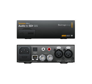 Converter - Blackmagic Teranex Mini - Audio to SDI 12G - Vizcom Technologies - 1