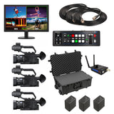 HD Live Streaming, 3x Sony Multi Camera Switch & Stream Bundle