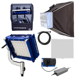 Creamsource Micro LED | V-Mount Portable Bundle (Equivalent to 200W HMI)