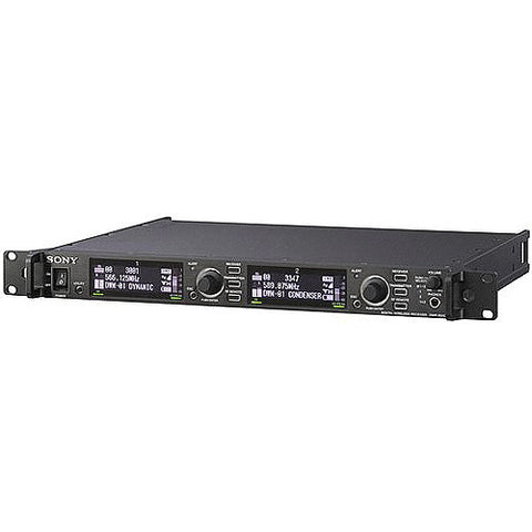 Microphone - Sony DWRR02D Rack Mountable Receiver with Wide Bandwith - Vizcom Technologies
