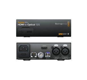 Converter - Blackmagic Teranex Mini - HDMI to Optical 12G - Vizcom Technologies - 1