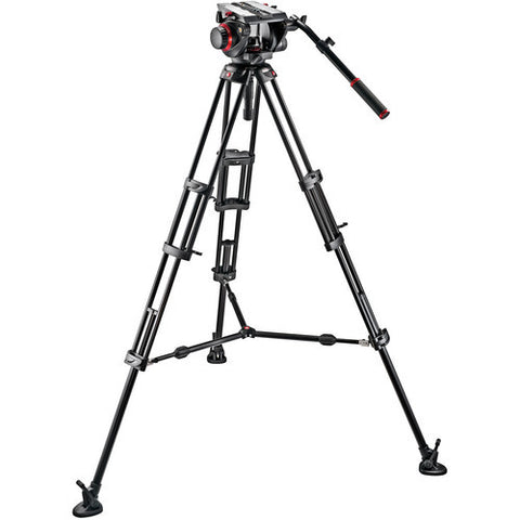 Tripod - Manfrotto 509HD Video Head + 545B Tripod Legs, Mid-spreader & Padded Bag - Vizcom Technologies - 1