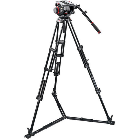 Tripod - Manfrotto 509HD Pro Video Head + 545GB Tripod Legs, Ground Spreader & Padded Bag - Vizcom Technologies - 1