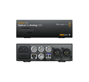 Converter - Blackmagic Teranex Mini - Optical to Analog 12G - Vizcom Technologies - 1
