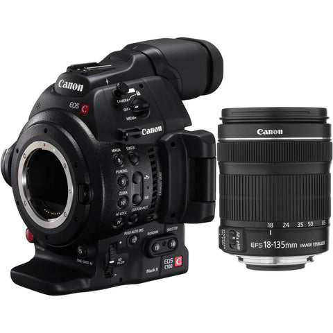 Professional Camcorder - Canon C100 Mark II Cinema EOS with EF-S 18-135mm IS STM Lens - Vizcom Technologies - 1