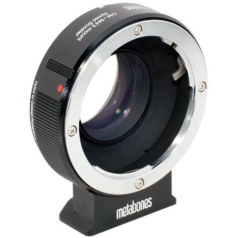 Adapter - Metabones Speed Booster Adapter- Olympus OM to Micro 4/3 (Black Matt) (MB_SPOM-m43-BM1) - Vizcom Technologies - 1