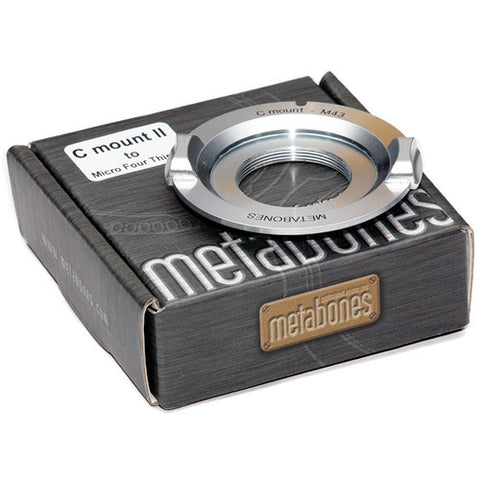 Adapter - Metabones C mount to Micro 4/3 (Chrome) - Ver 3 (MB_C-m43-CH3) - Vizcom Technologies - 1