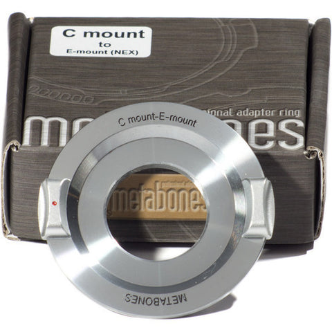 Adapter - Metabones C Mount to E-Mount (Chrome) (MB_C-E-CH1) - Vizcom Technologies - 1