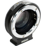 Adapter - Metabones Nikon G to Micro FourThirds Speed Booster XL 0.64x (Black Matt) (MB_SPNFG-M43-BM2) - Vizcom Technologies - 1