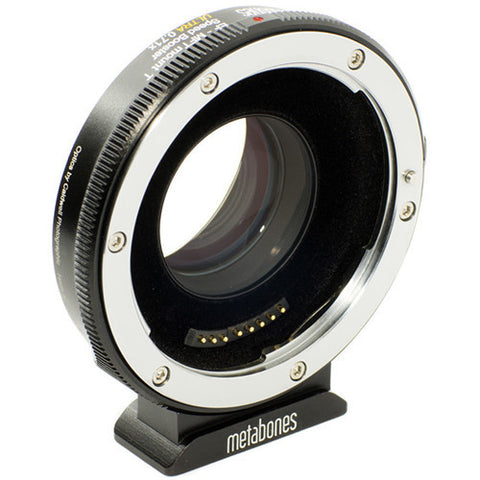 Adapter - Metabones Canon EF to Micro FourThirds T Speed Booster ULTRA 0.71x (Black Matt) (MB_SPEF-M43-BT4) - Vizcom Technologies - 1