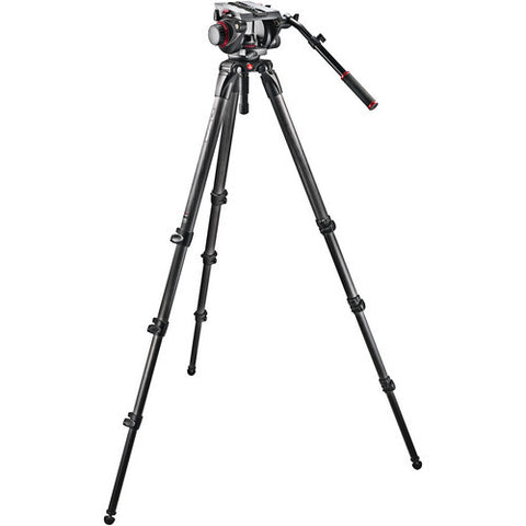Tripod - Manfrotto 536 Carbon Fiber Tripod with 509HD Video Head and Padded Carry Bag - Vizcom Technologies - 1