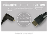 Cable - Coiled Right-Angle Micro to Full HDMI Cable (30cm-45cm) - Vizcom Technologies