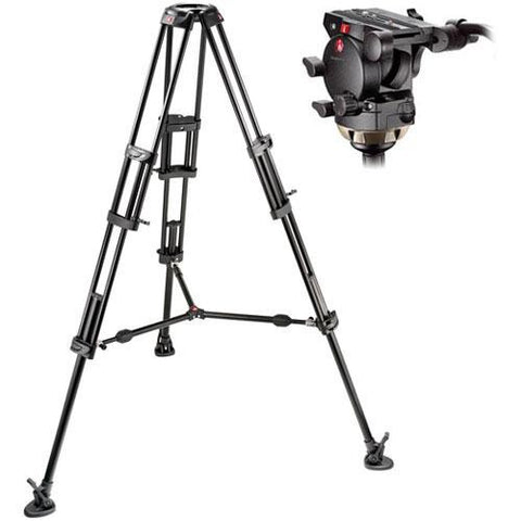 Tripod - Manfrotto 526,545BK Professional Video Tripod System with 526 Head - Vizcom Technologies - 1