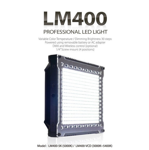 Lighting - Cineroid LM400 High Output Vari-colour High Density LED Light - Vizcom Technologies - 1