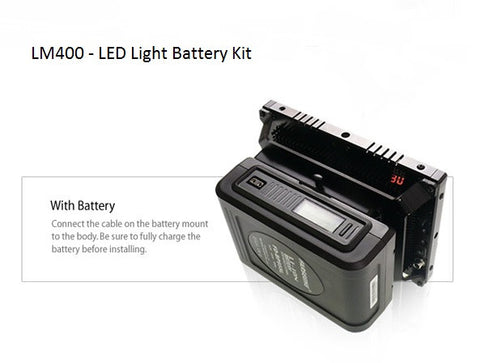 Lighting - Cineroid LM400 High Output Vari-colour High Density LED Light Battery Kit - Vizcom Technologies - 1