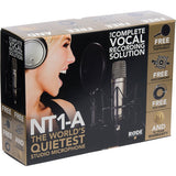 Microphone - Rode NT1-A Large Diaphragm Condenser Microphone (Single) - Vizcom Technologies - 2