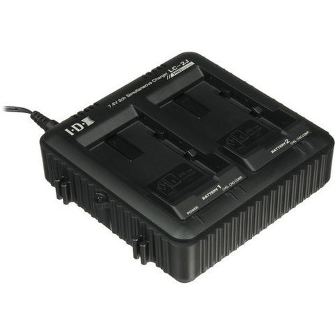 Charger - IDX 7.4V 2ch Simultaneous Charger for JVC - Vizcom Technologies
