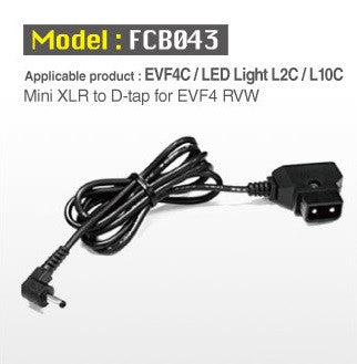 Lighting Accessory - Cineroid DC Plug with D-Tap for L10/L2/EVF4C - Vizcom Technologies
