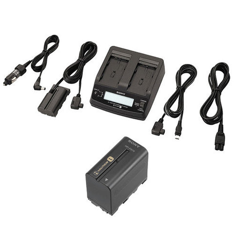Battery & Charger - Sony ACCL1BP AC Adapter / Twin Charger and NP-F970 Info-Lithium Battery Kit - Vizcom Technologies - 1
