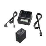 Battery & Charger - Sony ACCV1BP Power Kit (Charger + Battery) for HXR and PXWX70 Cameras - Vizcom Technologies - 1