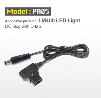 Lighting Accessory - Cineroid DC Plug with D-Tap for LM400 Light - Vizcom Technologies