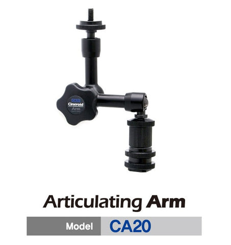 Cineroid Accessory - Cineroid Articulating Arm 20cm - includes hotshoe/quarter inch adapter - Vizcom Technologies