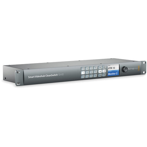 Routing and Distribution - Blackmagic Smart Videohub CleanSwitch 12x12 - Vizcom Technologies - 1