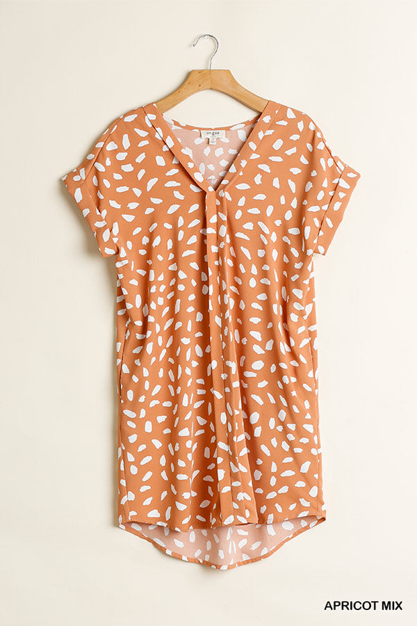 Dalmation Print Shift Dress